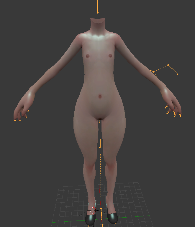 Hentai Blender girl model for
