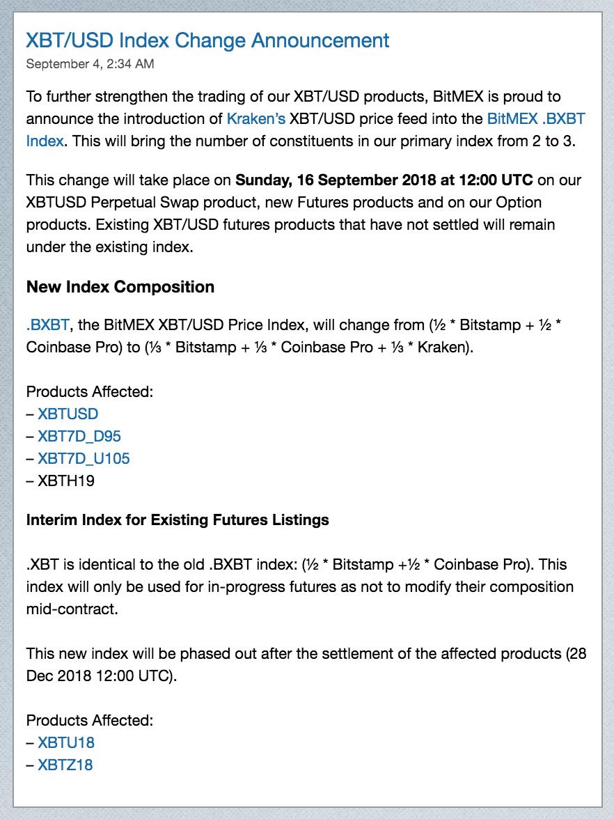 Bitmex Listings