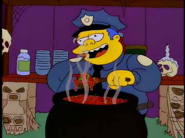 Image result for chief wiggum chili