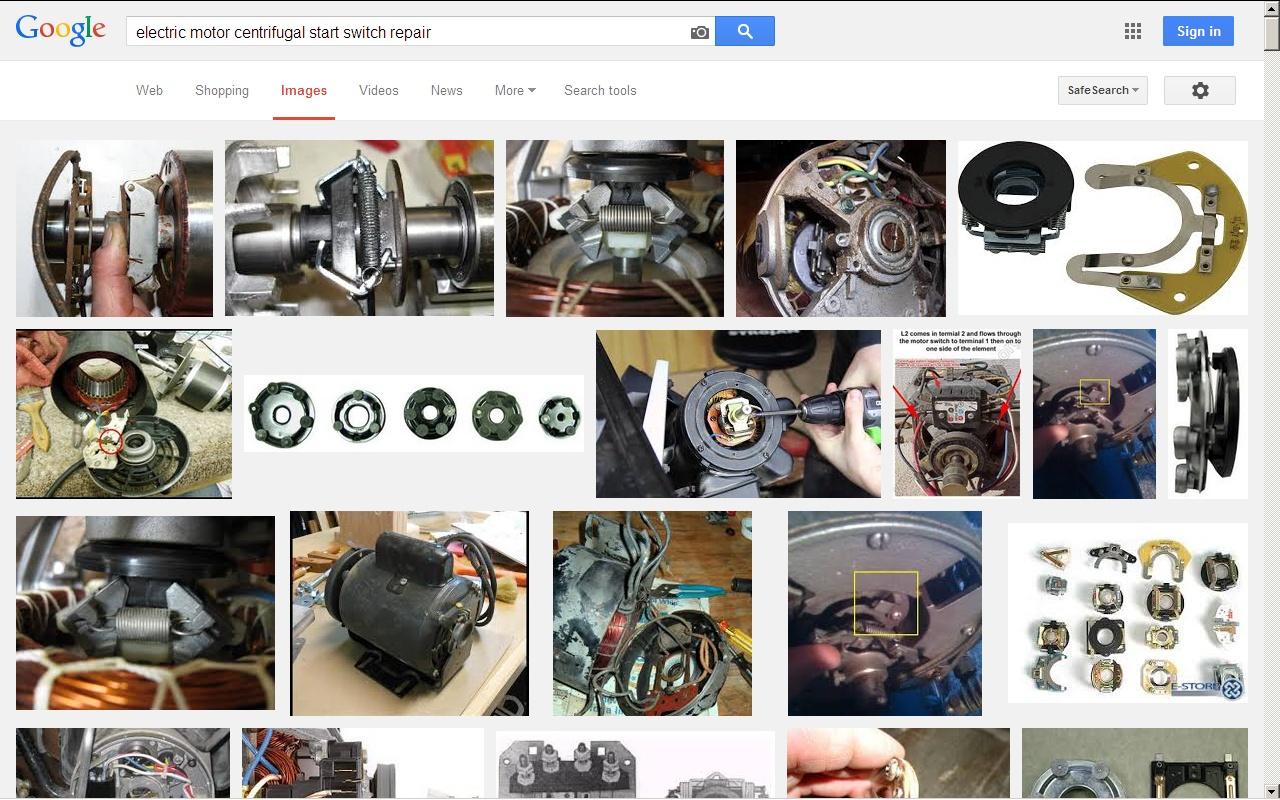 Electric motor centrifugal switch repair for Diy electric motor repair