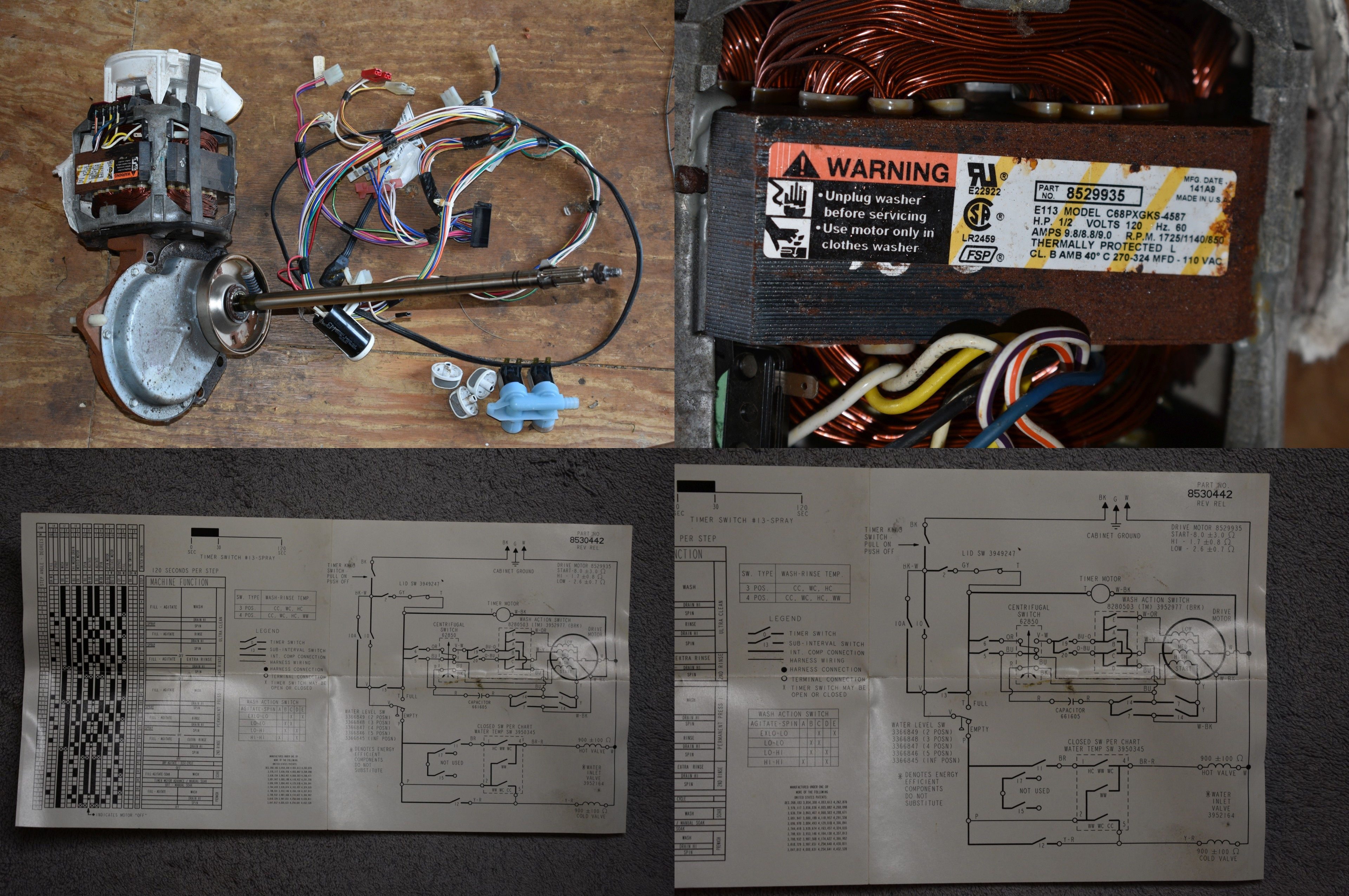 Diy Do It Yourself Search Mb Wiring Harness I Have A 1 2hp 110v Kenmore Series 40 Motor Water Pump And Transmission Also The Cap Diagram