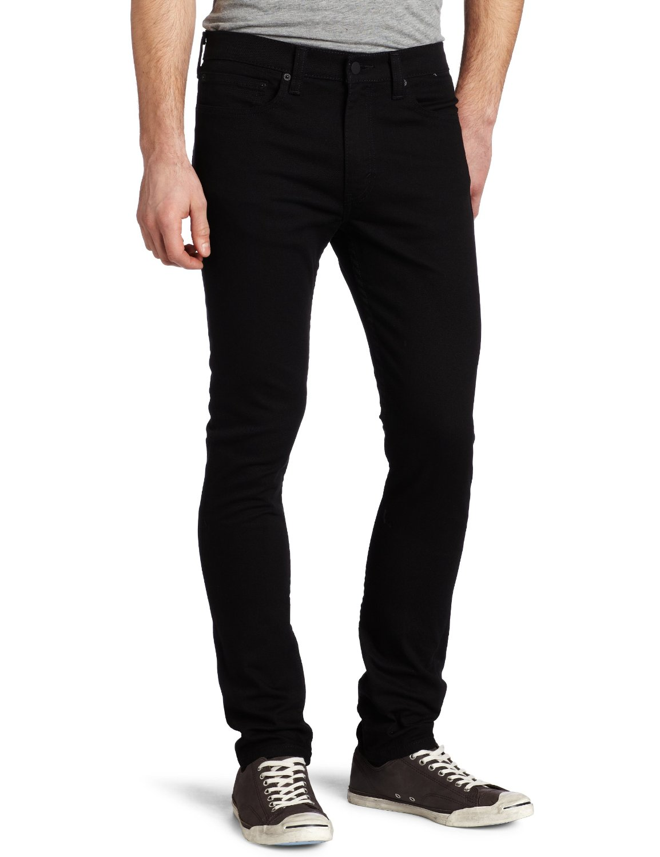 Slim Fit Black Jeans Men