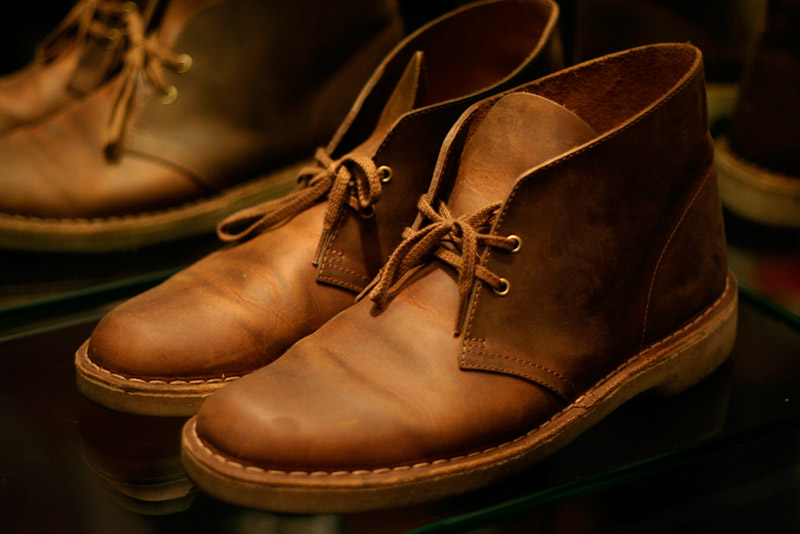 Clarks Desert Boots Beeswax Chinos