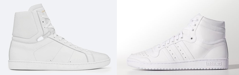 7ad6a0296fe SL made sneakers that were heavily influenced by the adidas top ten hi top  take a look and tell me they dont look eerily similar