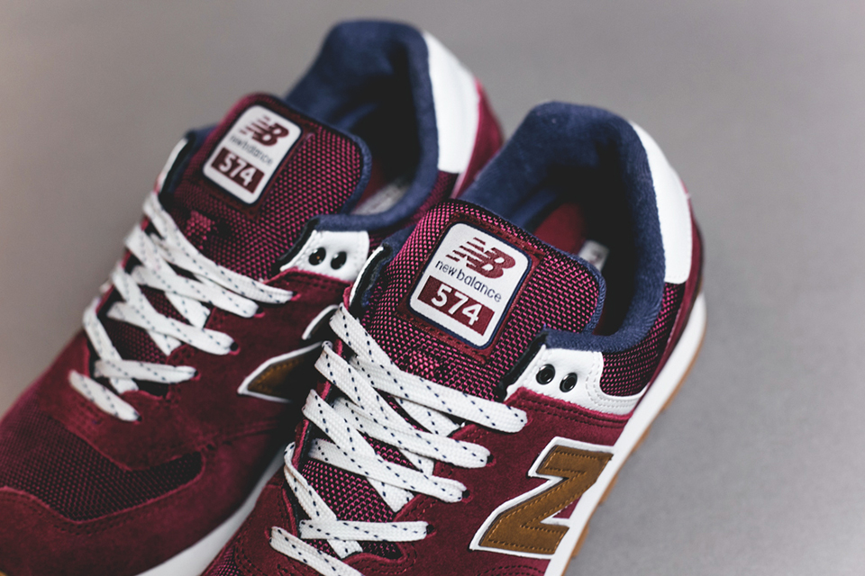 new balance 574 sneakers Bordeaux