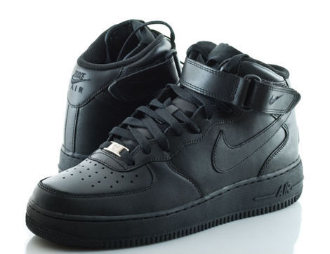 black high top air force ones