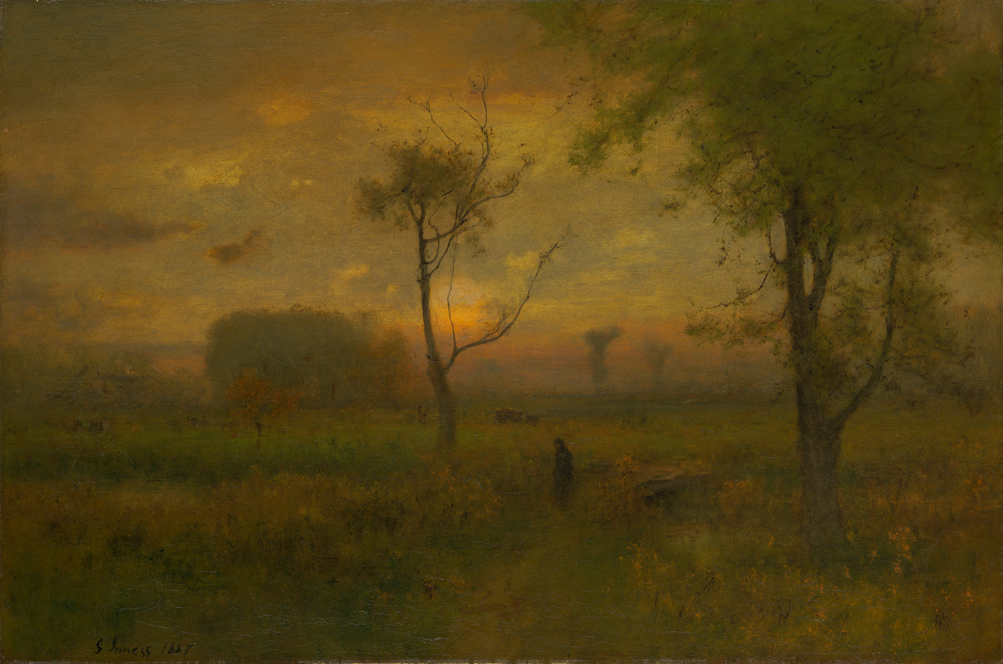 george inness early moonrise - HD 1200×797