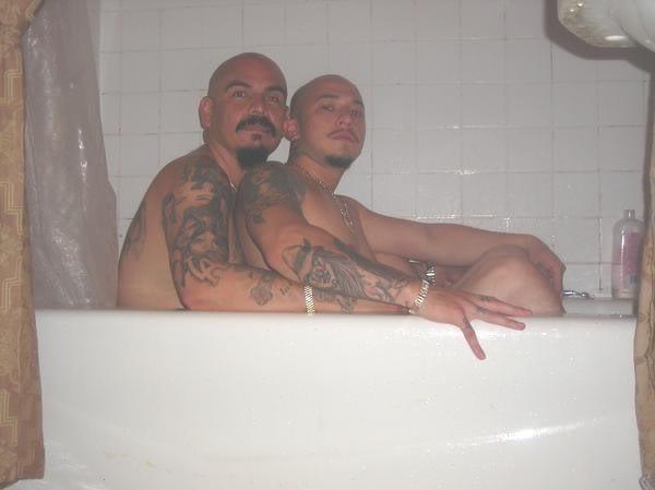 Gay latinos in the bathroom