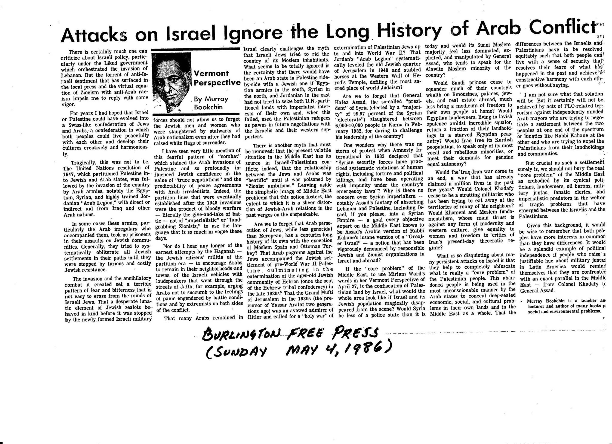 a history of the conflict between the arabs and the jews A brief history of the israeli-palestinian conflict the holy land changed hands many times through history -- from the canaanites to the israelites, babylonians, romans, crusaders, arabs, ottoman turks, british, and so on.