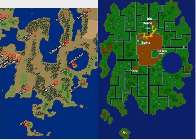 Phantasy Star 4 World Map.Vr Retro Games